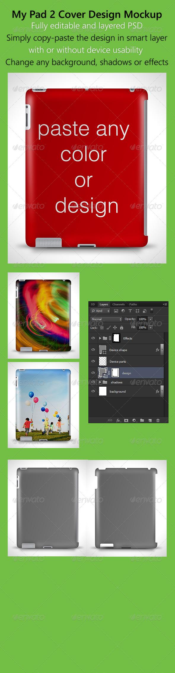 GraphicRiver MyPad2 Hardcase design Mockup 5294272