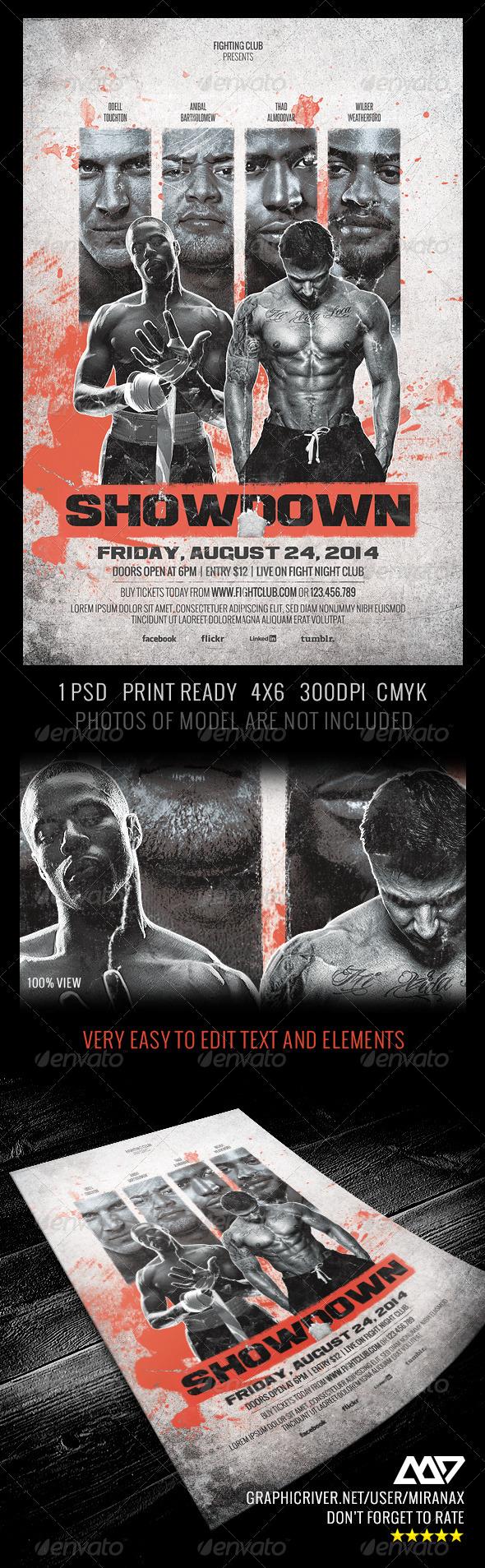 GraphicRiver Showdown Fighting Club Flyer Template 5294510