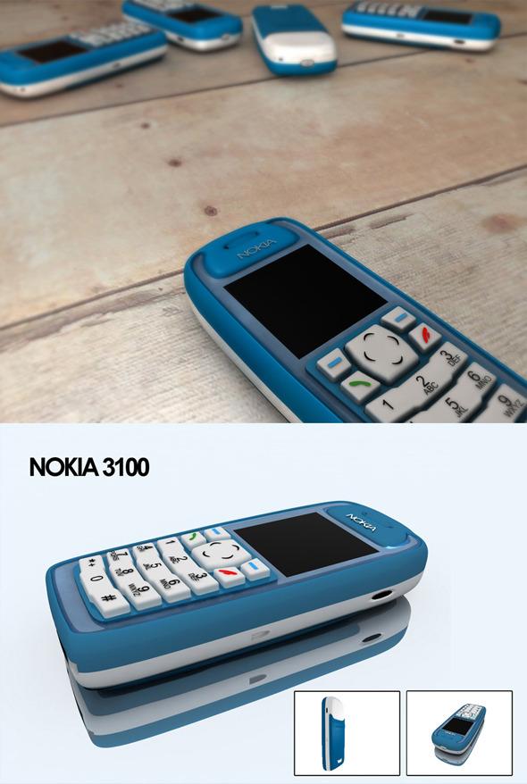 Realistic Nokia 3100 - 3DOcean Item for Sale