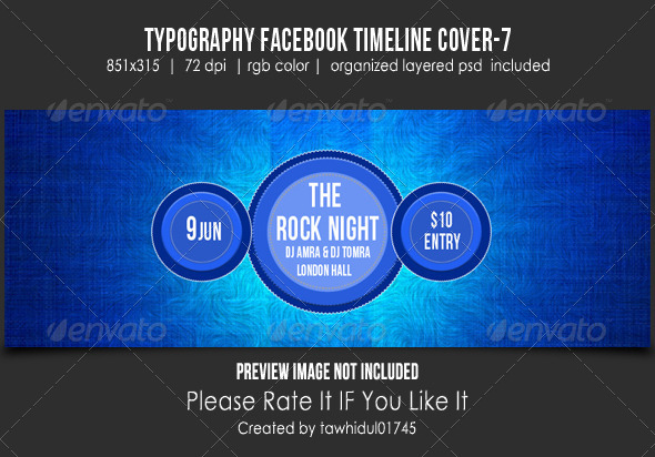 GraphicRiver Typography Retro Facebook Timeline Cover 6 5295238