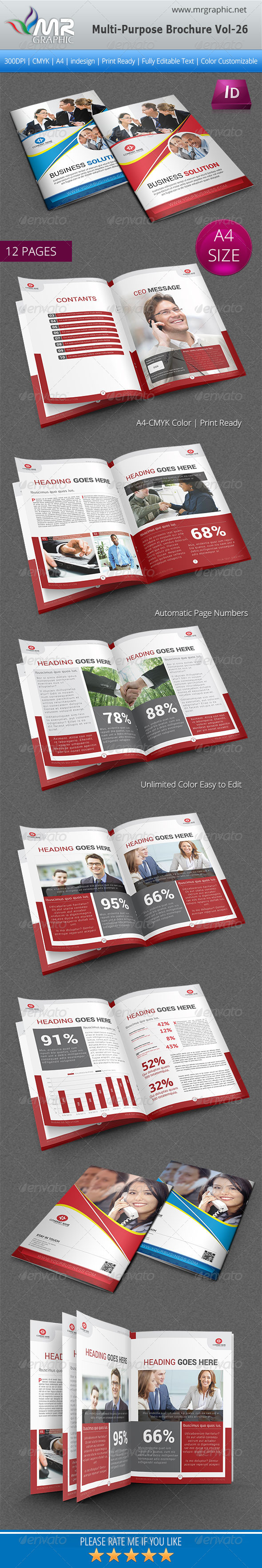 Multipurpose Business Brochure Template Vol-26 - Corporate Brochures