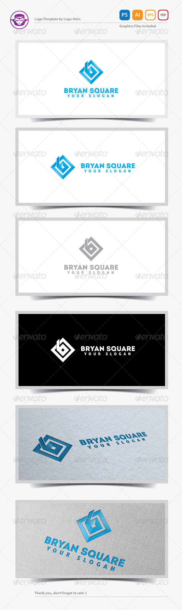Bryan Square Logo Template