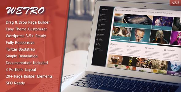 The Wetro - Creative WordPress Theme
