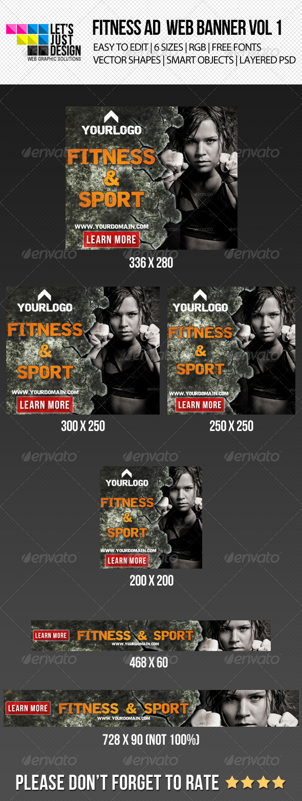 GraphicRiver Fitness Ad Web Banner 5296116