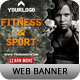Fitness Ad Web Banner - GraphicRiver Item for Sale