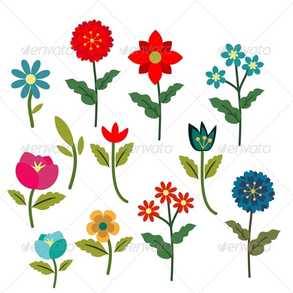 GraphicRiver Flowers Set 5296192