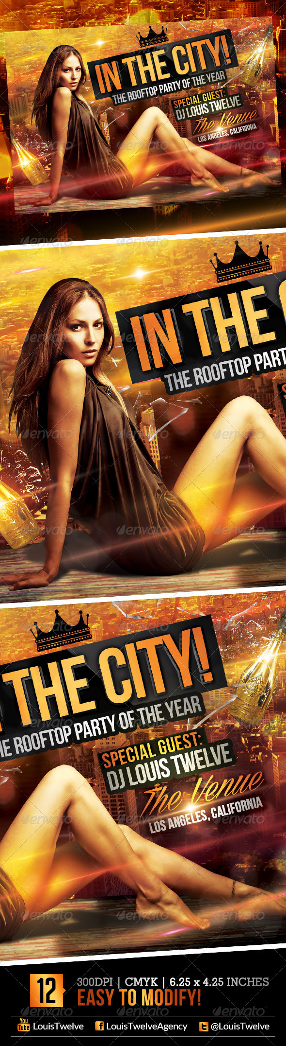 GraphicRiver In the City Rooftop Party Flyer Template 5244213