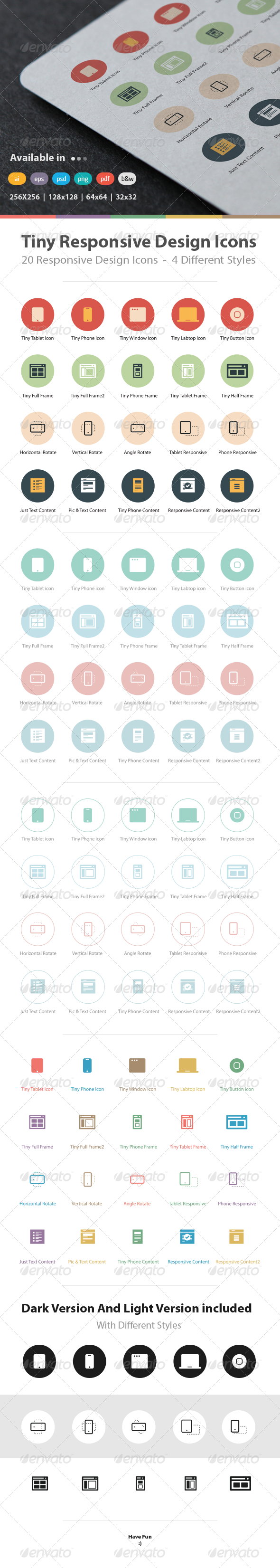 GraphicRiver Tiny Responsive Design Icons 5296253