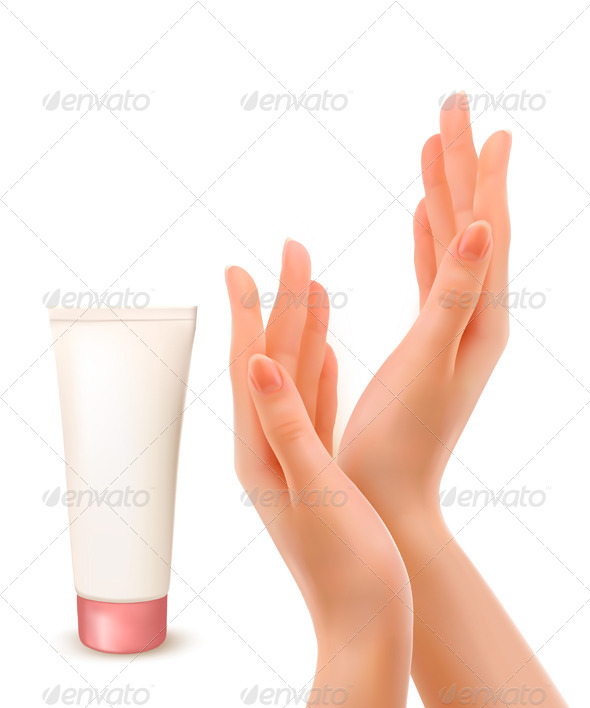 GraphicRiver Female Hands with Tube of Cream 5296502