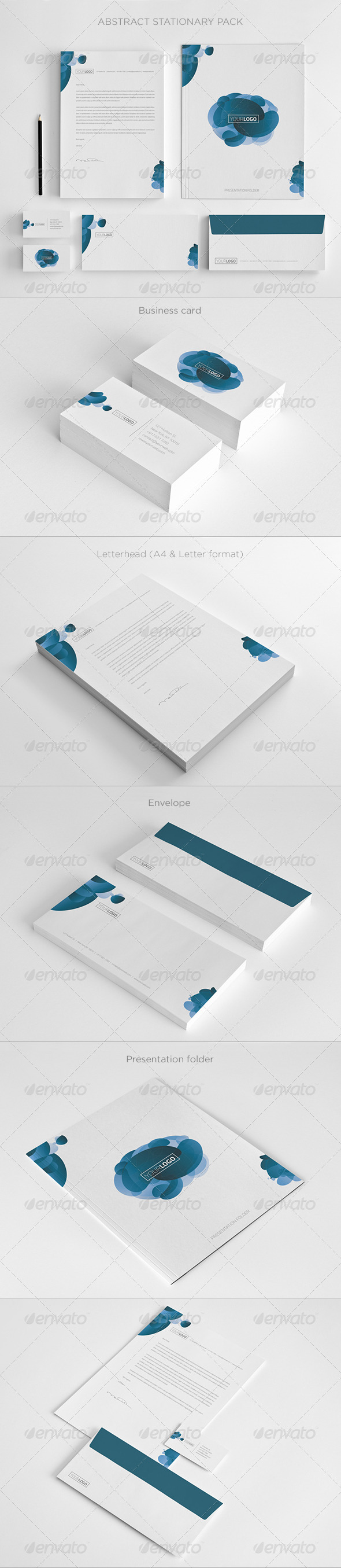 GraphicRiver Abstract Stationary Pack 5296834