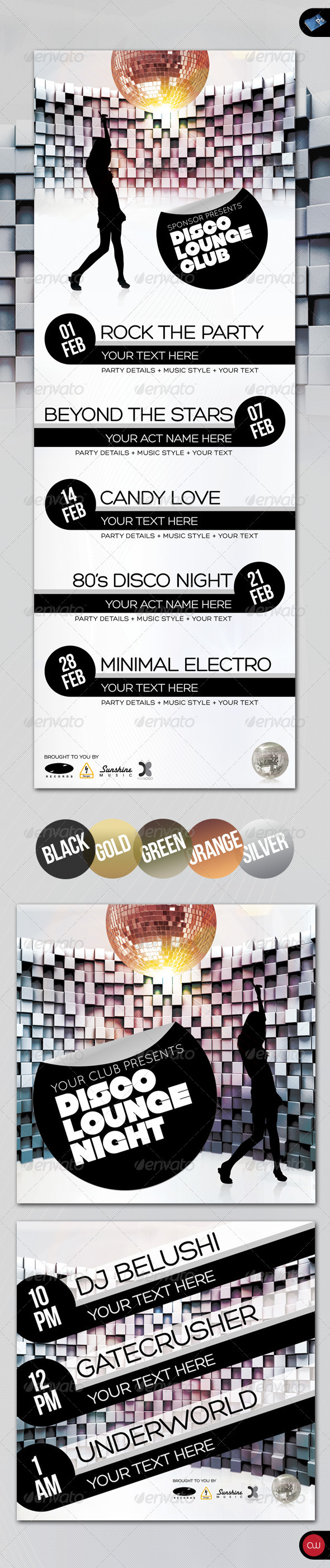 GraphicRiver Music & Event Flyer Disco Lounge Club 159442