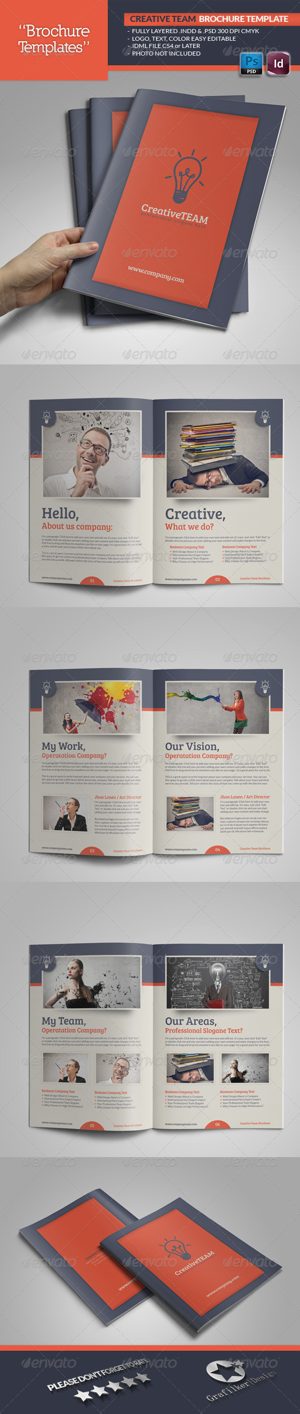 GraphicRiver Creative Team Brochure Template 5297431