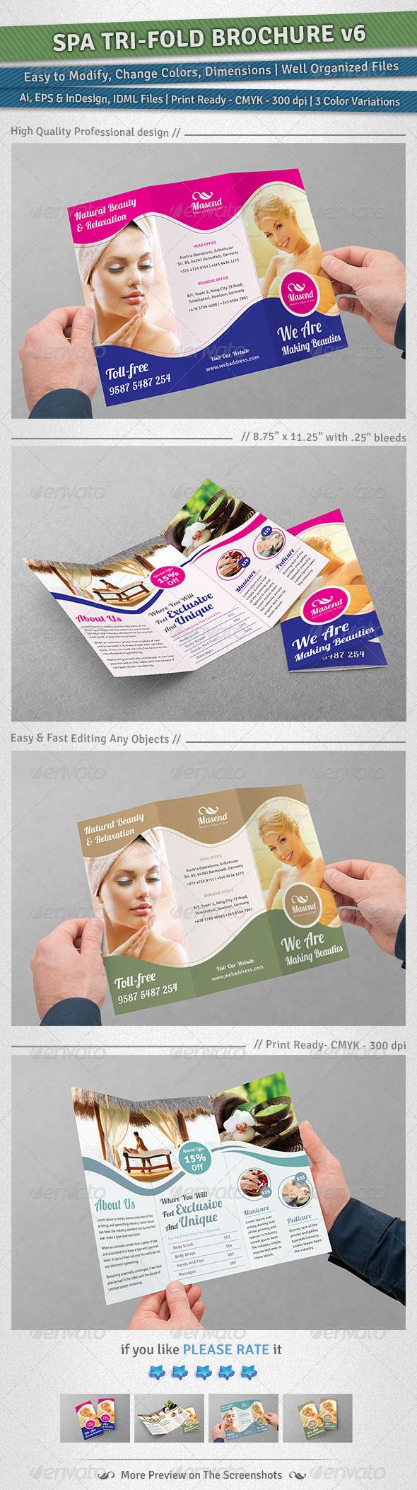 GraphicRiver Spa Tri-Fold Brochure Volume 6 5297463