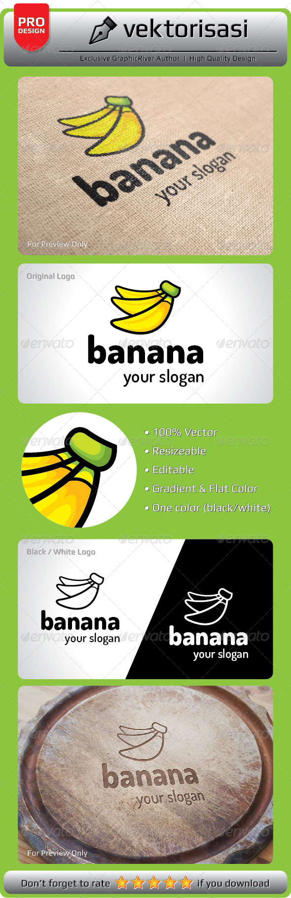 GraphicRiver Banana Logo 5297502
