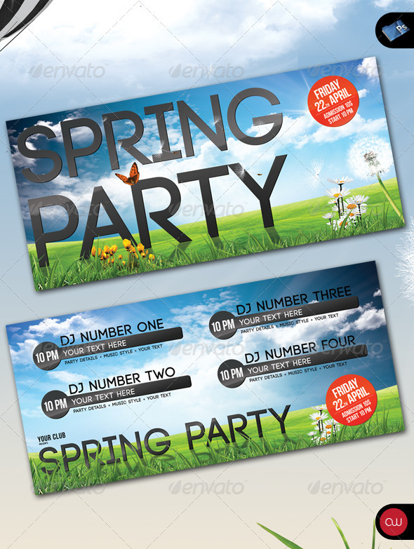Spring Party - Flyer - Front & Back