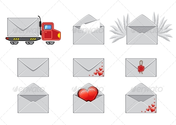 GraphicRiver Set of Envelopes 5297668