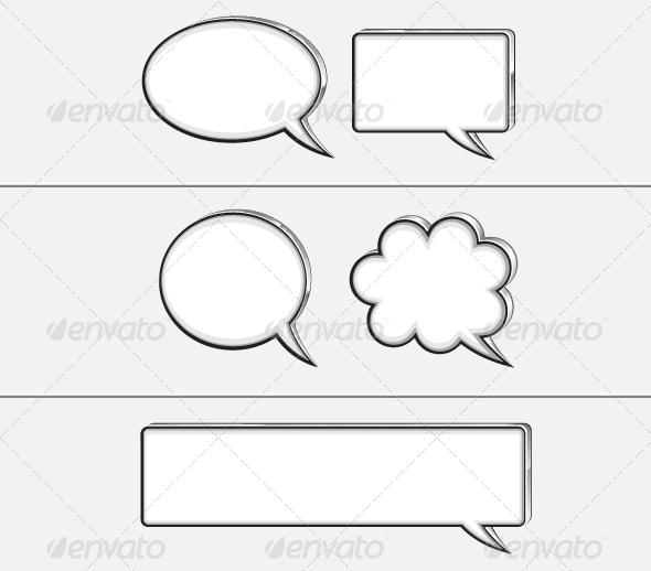GraphicRiver Five White Banners 5297815