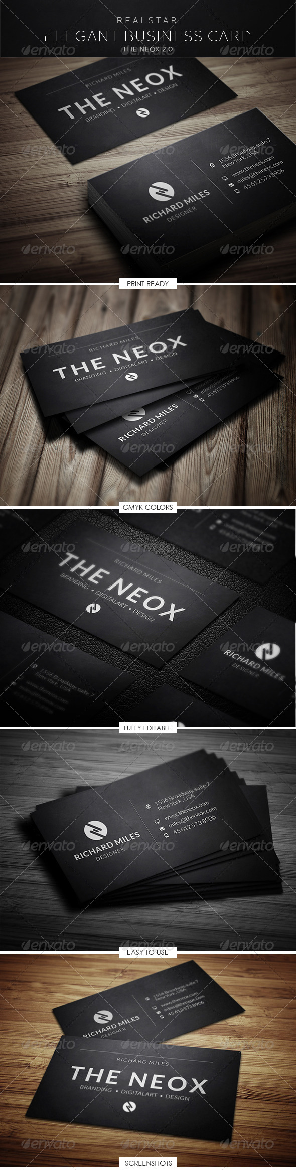 GraphicRiver The Neox 2 Corporate Business Card 5297849