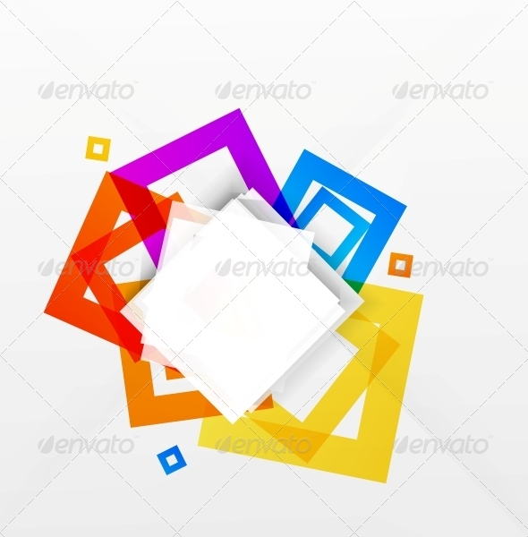 GraphicRiver Abstract Colorful Squares Background 5297909