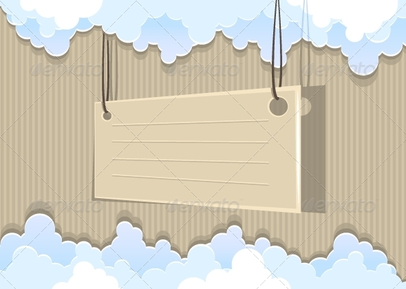 GraphicRiver Cardboard Background with Clouds 5297917