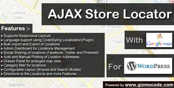 CodeCanyon Ajax Store Locator Wordpress 5293356