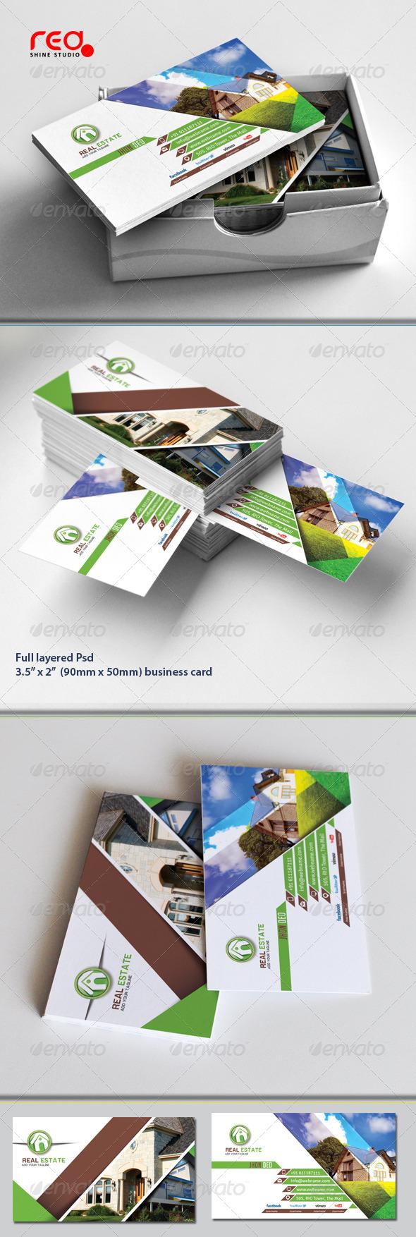 GraphicRiver Real Estate Business Card Set 5298130
