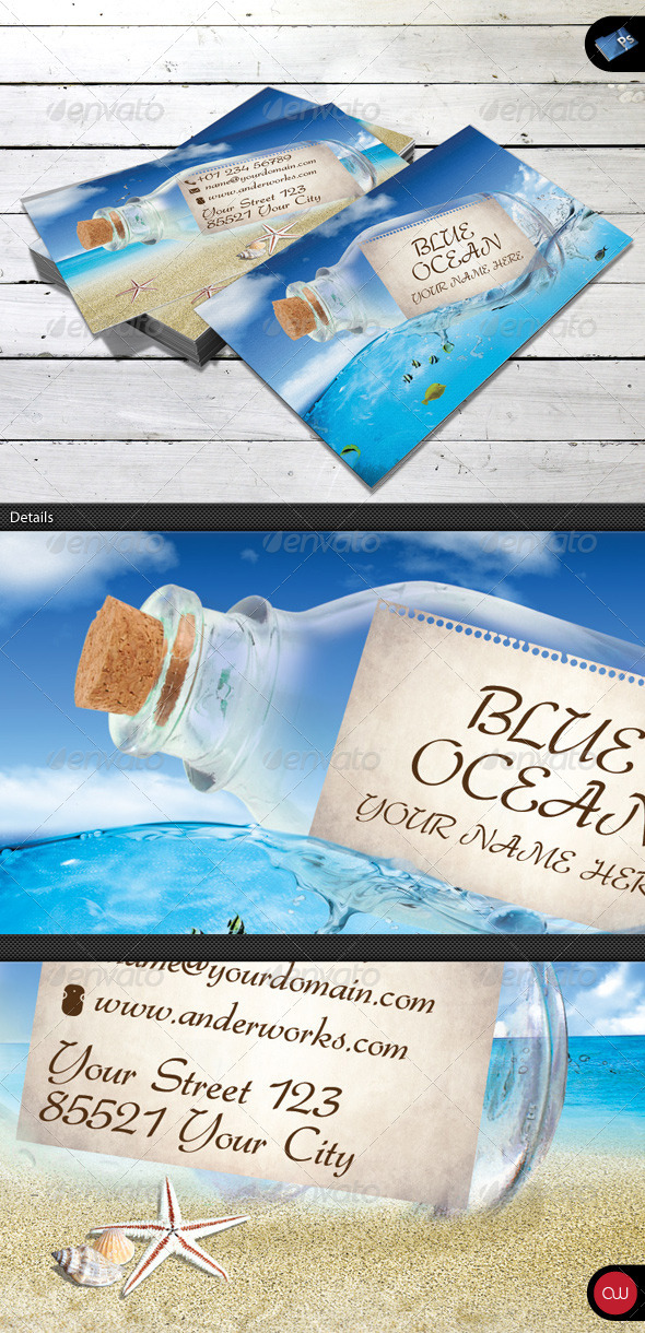 Blue Ocean - Business Card Template