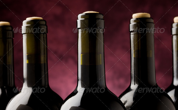 Wine Bottle - Stock Photo - Images