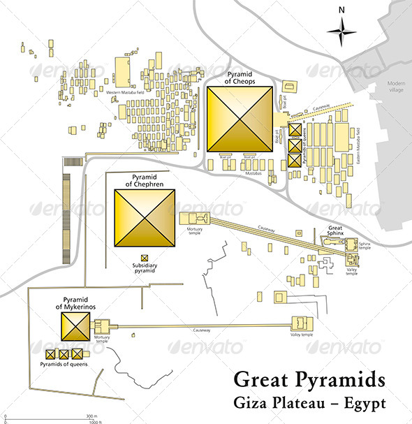 GraphicRiver Pyramids of Giza Map 5298405