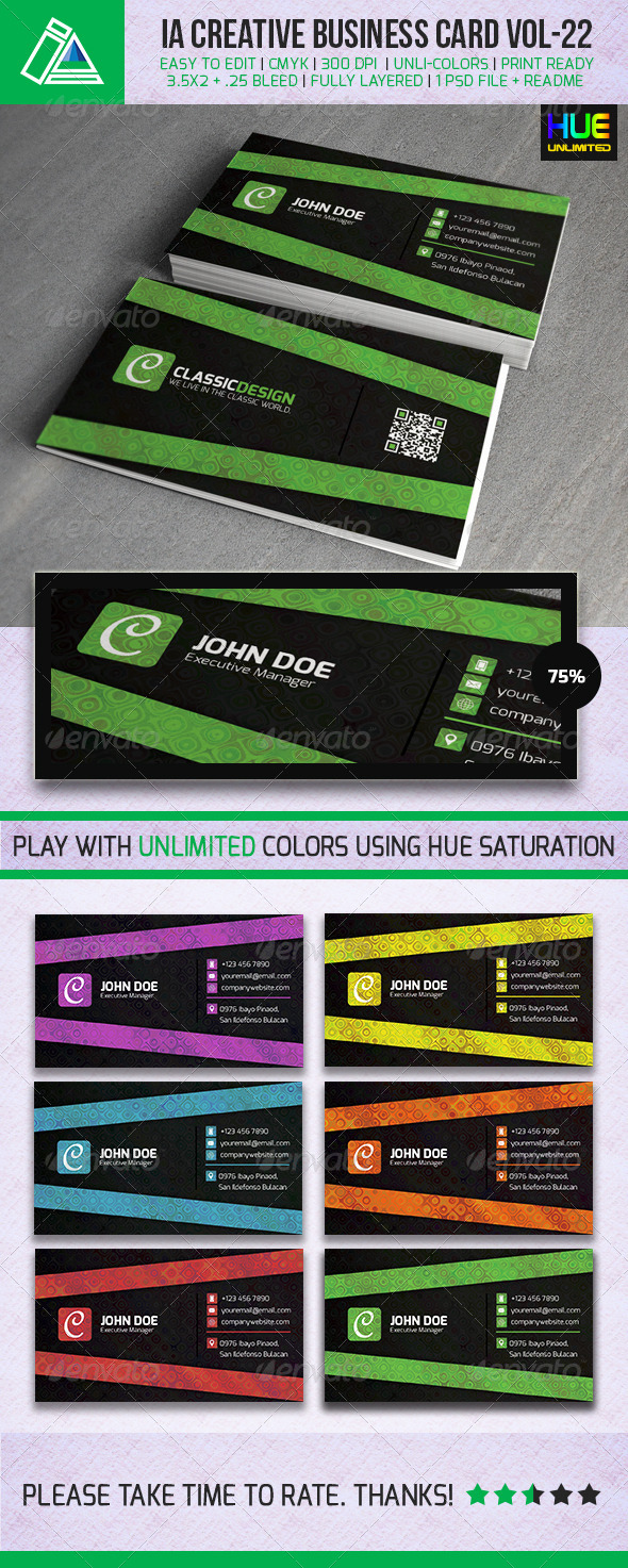 IntenseArtisan Business Card Vol.22 - Creative Business Cards