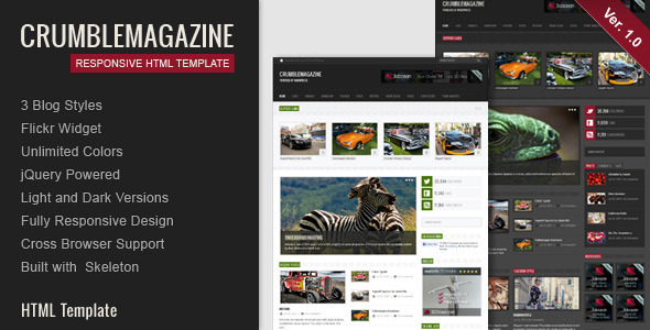 Crumble - Responsive HTML Template - Creative Site Templates