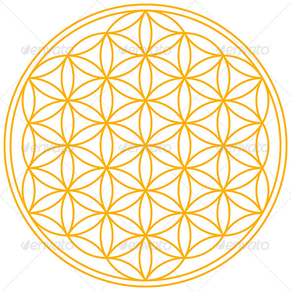 GraphicRiver Flower of Life Rainbow Colors 5298567