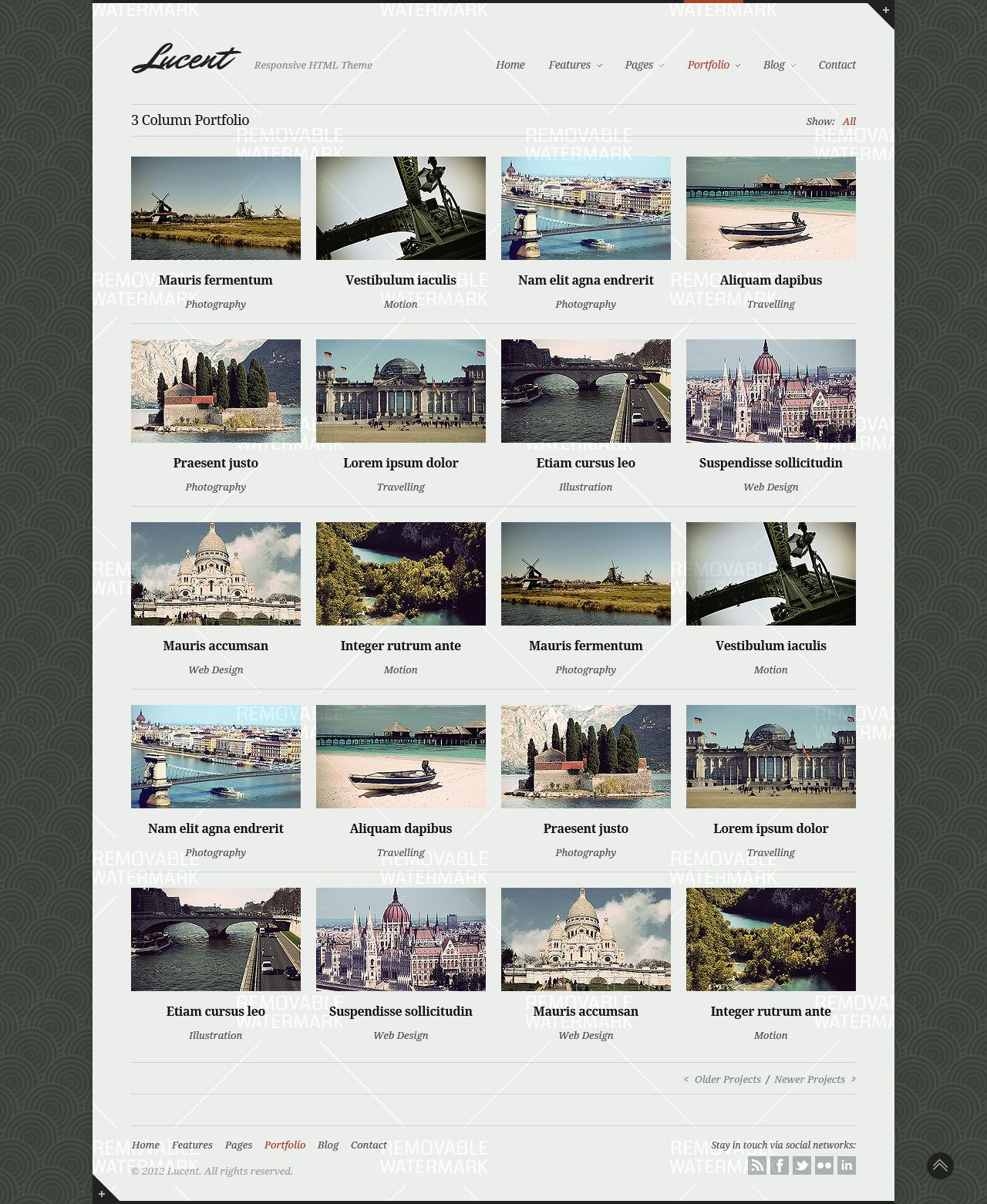 Lucent - Stylish Portfolio/Blog Responsive Theme