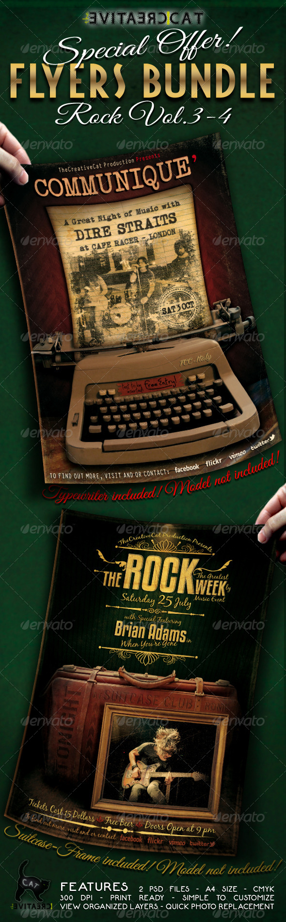 GraphicRiver Rock Flyer Poster Bundle Vol 3-4 5298963