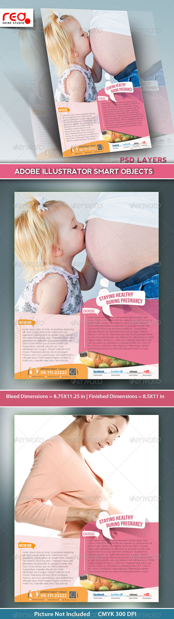 GraphicRiver Maternity Hospital Flyer Template 5299045