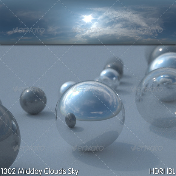 HDRI IBL 1302 Midday Clouds Sky - 3DOcean Item for Sale
