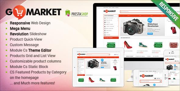 Responsive Supermarket PrestaShop Theme - GoMarket