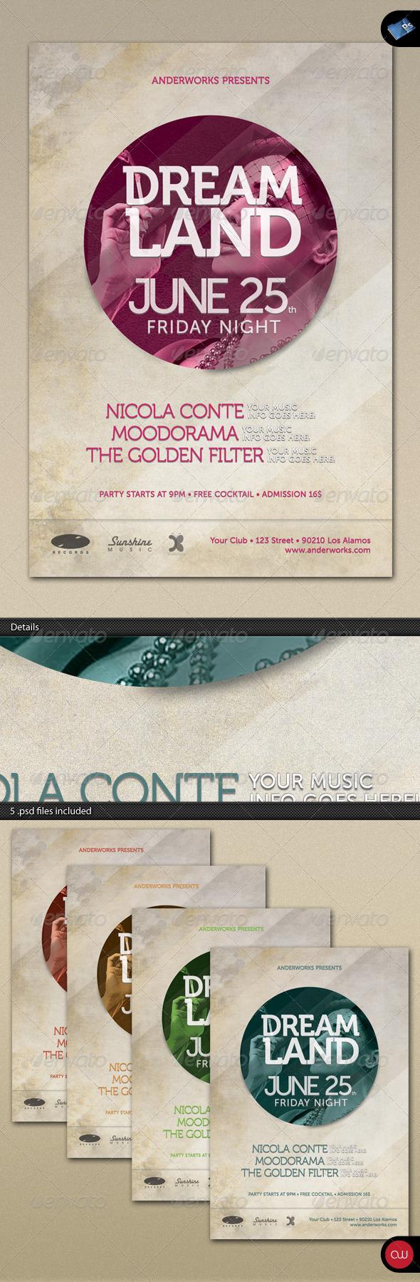 GraphicRiver Music & Event Flyer Dreamland 2 236189