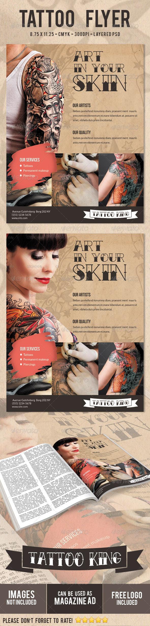 Tattoo Flyer Print Ad