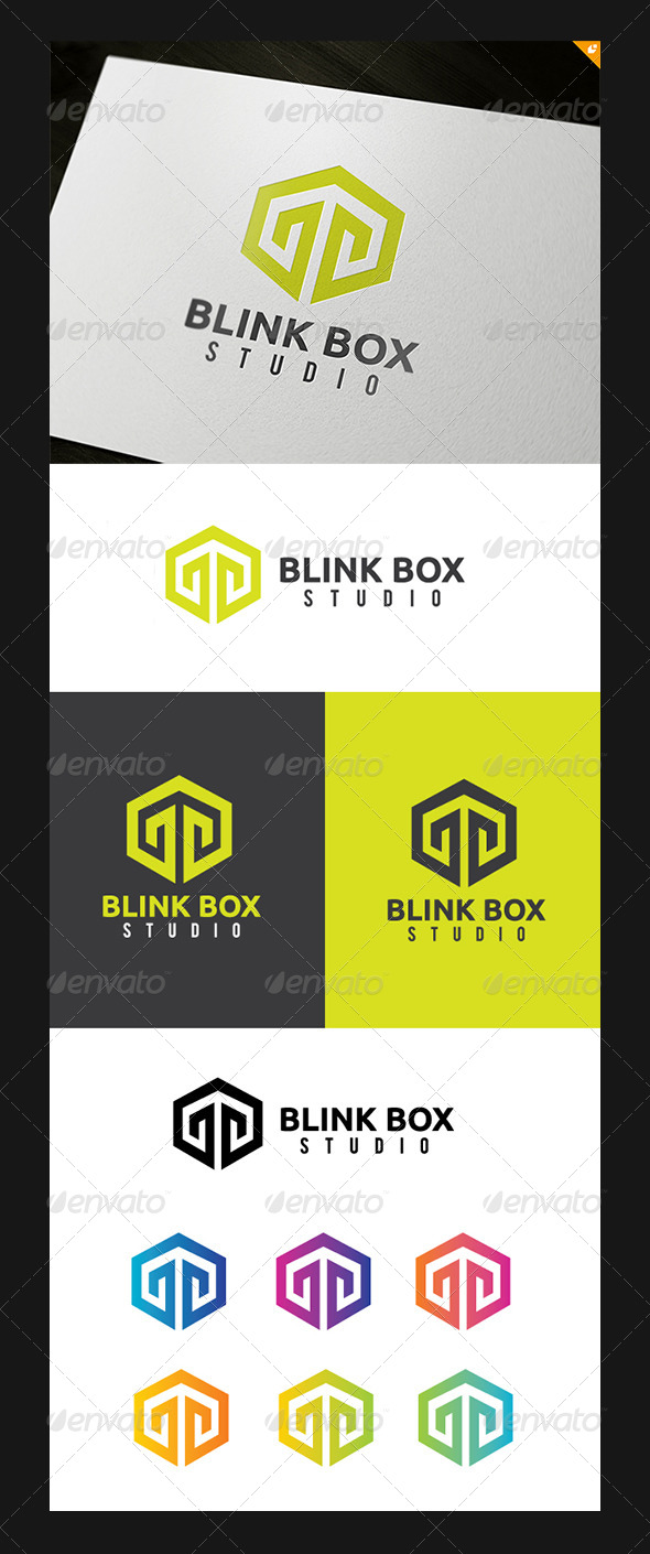 GraphicRiver Blink Box Studio Logo 5300022