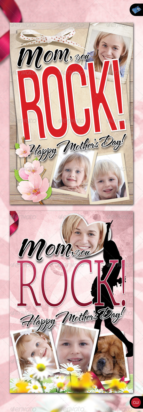 GraphicRiver Greeting Card Mom you Rock 235084