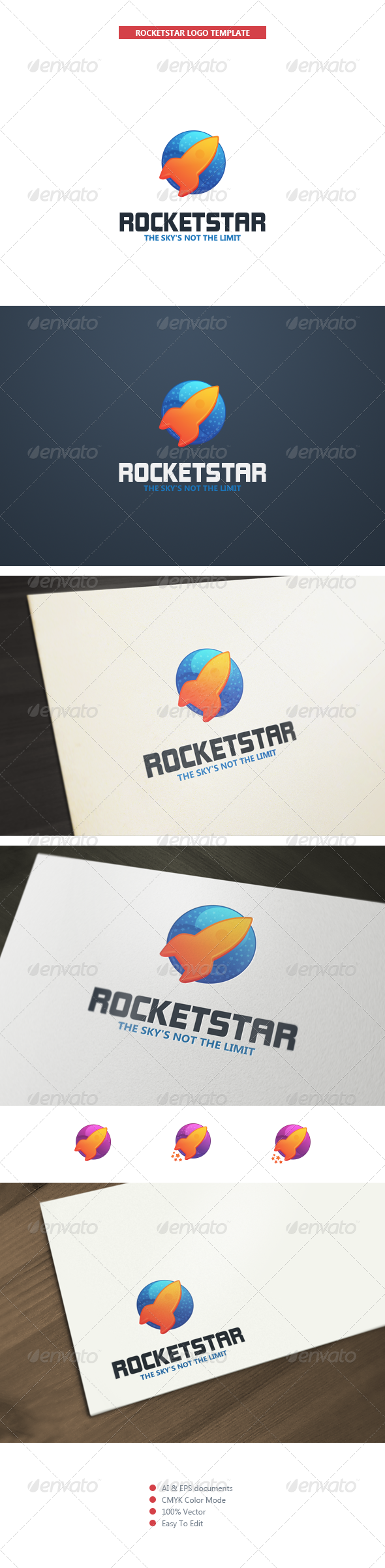 GraphicRiver RocketStar Logo Template 5299032