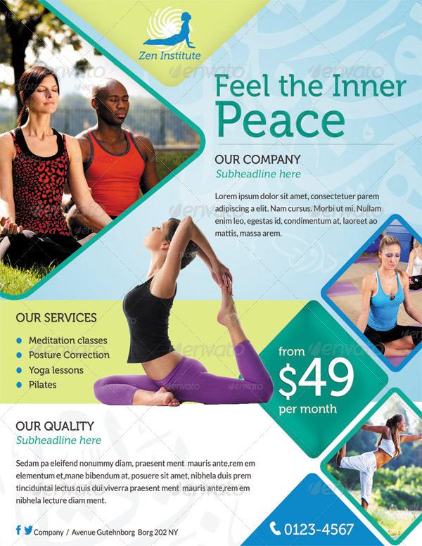 Yoga Flyer Print ad by ingridk – Yoga Flyer