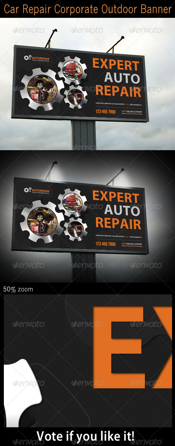 GraphicRiver Car Repair Corporate Outdoor Banner 5246402