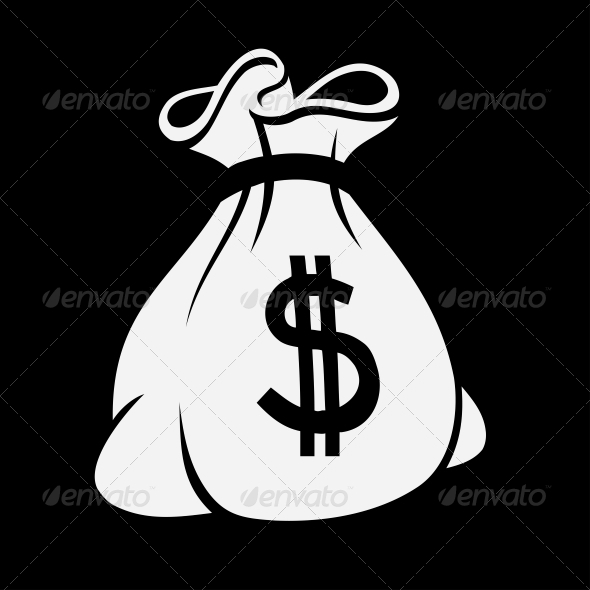 GraphicRiver Money Icon with Bag 5301378