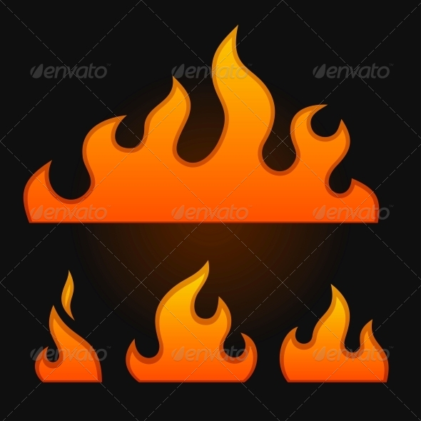 GraphicRiver Set of Fire Elements 5301391