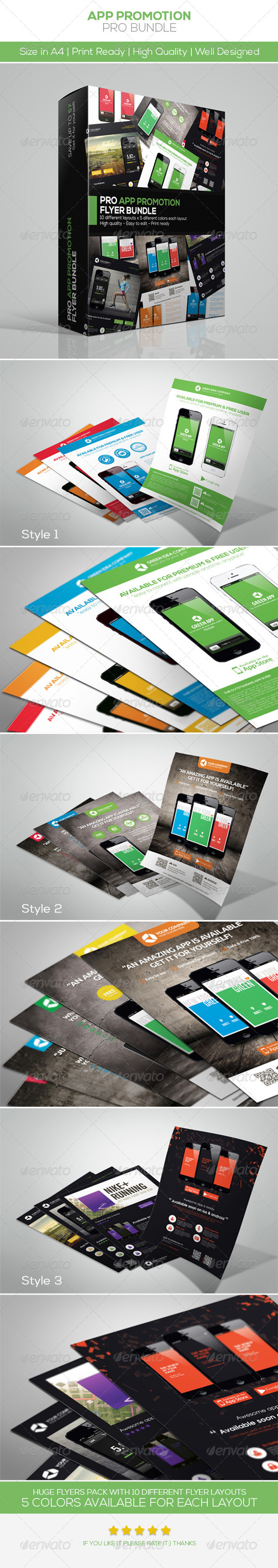App Promotion Flyers Bundle - Commerce Flyers