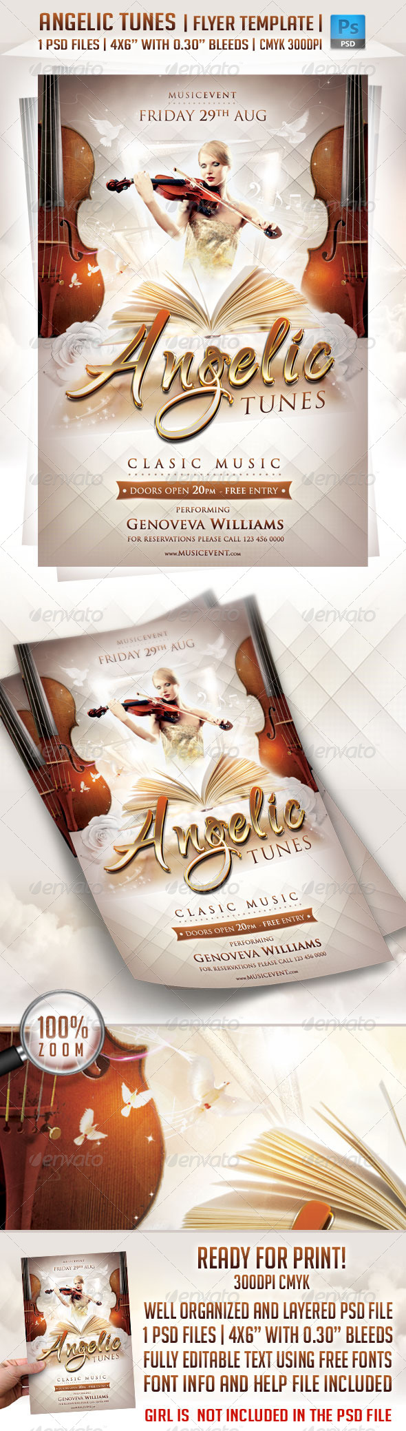 GraphicRiver Angelic Tunes Flyer Template 3139528