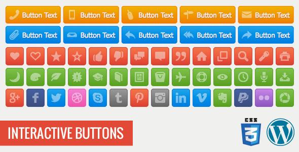 CodeCanyon Interactive Buttons Wordpress Plugin 5302834