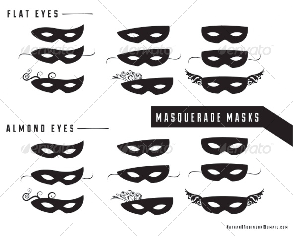 GraphicRiver Masquerade Masks 5303002